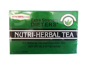 Nutri-Herbal Tea All Natural Herbal Laxative Tea Extra Strength 3G x 15 Tea Bags