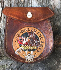 Sporran Clan Campbell Handmade Outlander inspired Leather Sporran Celtic