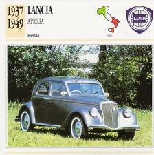 1937-1949 LANCIA APRILIA Classic Car Photograph / Information Maxi Card