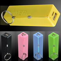 External USB Portable Backup Battery Charger Power Bank for phone 2600mAh