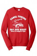 CAMEL TOWING Adult DRIVER Humor Rude Gift Tee Tow Truck MENS FUNNY SWEATSHIRT