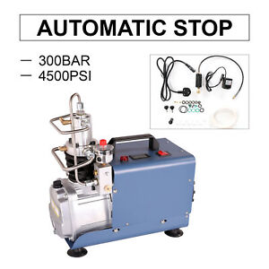 300Bar High Pressure Air Compressor Pump Auto Stop Paintball Airgun Rifle PCP UK