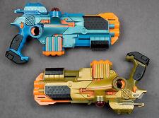 Tiger Phoenix LTX Lazer Tag Lot 2 Guns w/ Shotgun & Sight Attachments - Tested