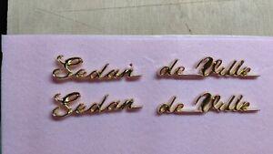 Cadillac 1959 1960 sedan DeVille 18 K gold quarter panel scripts