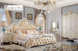 Classico Camera da Letto Set Rifiniture Lusso Barocco Rococo Stile Antico Nuovo