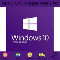 WINDOWS 10 PRO 32-64 BIT GENUINE LICENSE KEY ACTIVATION FOR 1 PC