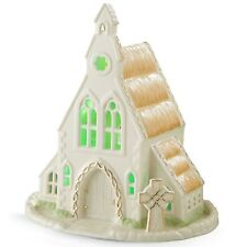 Lenox Irish Country Church Figurine Lighted Green Saint St Patrick's Day New
