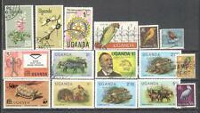 T51 - UGANDA 1965/91 - LOTTO 16 DIFFERENTI - VEDI FOTO
