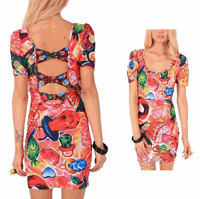 LADIES IRON FIST SWEETS FOR MY SWEETS BOW BACK DRESS mini - Size S - bnwt