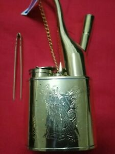 """RARE Old Ancient 8"""" Gold Color Snuff Bottle Long Life Smoke Hookah"""