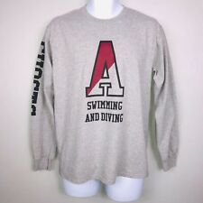 Gildan Mens Shirt M Gray University of Alabama Crimson Tide Swimming Diving MY4