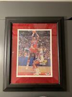 Moses Malone Autographed Framed 8x10 Photo PSA COA Philadelphia 76ers HOF