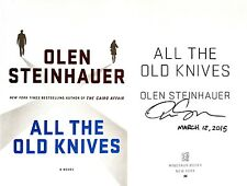 Olen Steinhauer~SIGNED & DATED~All the Old Knives~1st/1st HC + Photos!