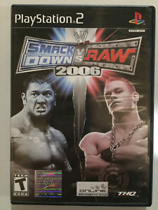 WWE SmackDown vs. Raw 2006 (Sony PlayStation 2, 2005) Complete