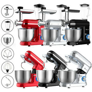 6 Speed Electric Stand Mixer Kitchen Aid Food Beater Cake Whisk 5L Bowl Blender