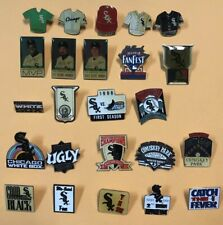 Lot Of 24 Different Chicago White Sox Logo Pins MLB