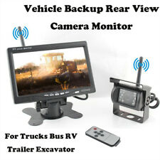 Wireless IR Rear View Back up Camera Night Vision System+7Monitor for RV Truck