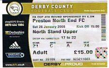 Biglietti-Derby County V Preston North End FA Cup 26.01.08