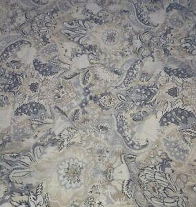 Pottery Barn Full/Queen Celeste Damask Linen Blend Duvet Cover