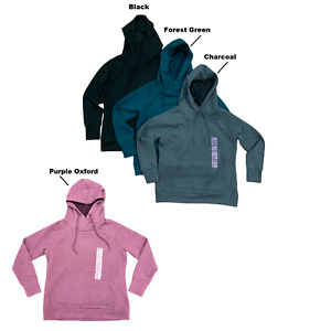 Green Tea Women's Quilted Hooded Pullover, Long Sleeve Hoodie