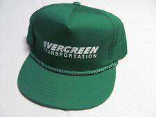 Vintage EVERGREEN TRANSPORTATION Baseball Hat Green Snapback Cap Trucker