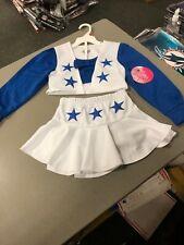 Dallas Cowboys Cheerleaders SKIRT SET  Uniform White Royal Blue  girls