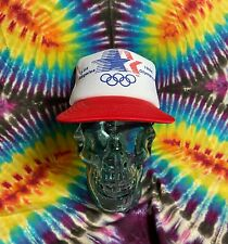 Vintage 1984 Los Angeles Olympics Color Blocked SnapBack Trucker Hat
