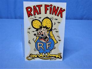 Rare! Vintage Original NOS '63 Rat Fink Decal Ed Big Daddy Roth Hot Rod Gasser