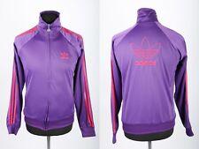 Vintage Adidas Pink & Purple Trefoil Jacket | Womens 12 | Retro Tracksuit Track