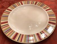 Laura Ashley Lifestyles HAMPSHIRE FLORAL Chop and Dinner Plates Lot of 6 EUC