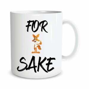 Funny Mugs For Fox Sake Novelty Gifts Coffee Mug Office Work Colleague Gift