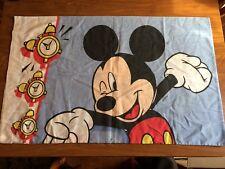 Vintage Mickey Mouse Standard Pillow Case Wake Up Alarm Clock Disney VTG