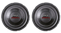 "2) PYLE PLPW6D 6"" 1200W Dual Voice Coil 4-Ohm Black Car Stereo Audio Subwoofers"