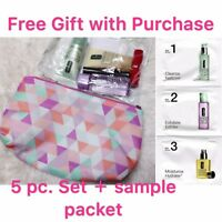 Clinique 5-PC Skincare Makeup Gift Set with 3-step sinkcare sample packet
