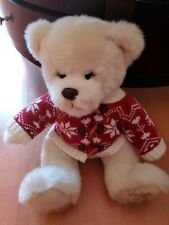 Harrods UK 2012 Chester Bear Christmas Edition Plush Bear w/Red Winter Sweater