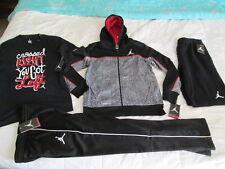 NEW Boys NIKE  4Pc OUTFIT AIR JORDAN Red&Blk Jacket+Pants+Shorts+T YLG FREE SHIP