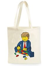 FUNNY DONALD TRUMP LEGO POSTER SHOPPING CANVAS TOTE BAG IDEAL GIFT PRESENT