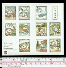 """0520, Doraemon,""""Gadget cat from the future"""" Booklet, Sticker type, Japan Stamp"""