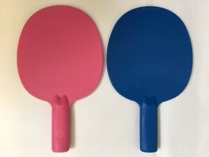 2XRobust plastic table tennis bats/ping pong/Auction/Quiz Mr/Mrs Game paddles