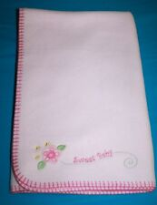 Baby Connection SWEET BABY Felt 3d Flower Soft Pink Fleece Blanket Lovey 30x40""