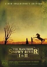 THE MAN FROM SNOWY RIVER 1 & 2 DVD, very good condition , REGION 4. FREE POST