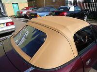Mazda MX5 MK1 Miata Eunos Soft Top TanVinyl PVC Car Hood soft top