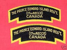 PRINCE EDWARD ISLAND REG CANADA Cloth Shoulder Flashes
