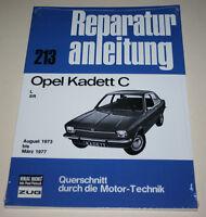 Reparaturanleitung Opel Kadett C (L + SR), Baujahre 1973 - 1977