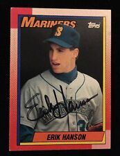 ERIK HANSON 1990 TOPPS Autograph Signed AUTO Baseball Card 118 MARINERS