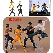 UK 4Pcs Bruce Lee Kung Fu PVC Action Figure Series Limited Collection Toys Gifts