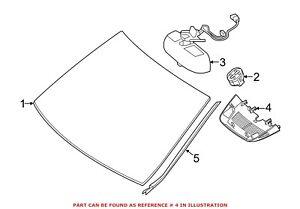 For Mercedes Genuine Interior Rear View Mirror Cover 16682110367E94