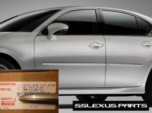 Lexus GS350 GSF (2015-2018) OEM BODY SIDE MOLDINGS SET (Atomic Silver) (1J7)