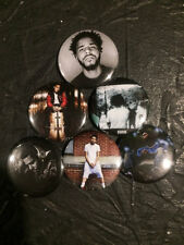 """1.25"""" J. Cole pin back button set of 6"""