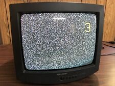 """New listing Sharp 13H-M60 13"""" CRT Color TV Retro Video Gaming w/o Remote *Tested Works*"""